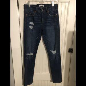 LOFT like new straight-leg denim jeans